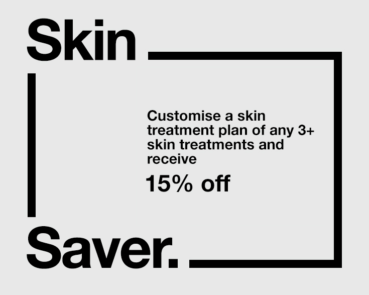 Buy any 3+ skin treatments and receive 15% off